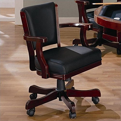 Upholstered Chair Chestnut - Mitchell Upholstered Arm Game Chair Chesnut and Black