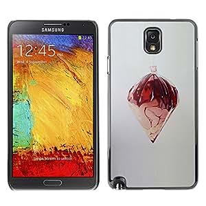 TopCaseStore / la caja del caucho duro de la cubierta de protección de la piel - Random Abstract Art Design Structure Modern - Samsung Galaxy Note 3 N9000 N9002 N9005