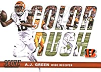 2017 Score Color Rush #3 A.J. Green Cincinnati Bengals Football Card