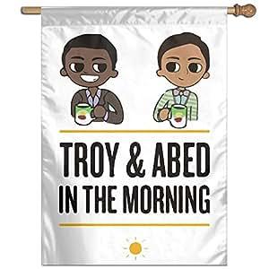 """Comunidad Troy Abed en el Moring hogar casa jardín banderas 12""""X 30One Side print"""