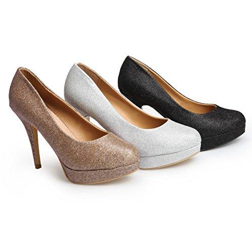 La Modeuse - Zapatos de Vestir Mujer Multicolor - Ecru