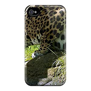 Norelson Design High Quality Animals Grass Leopards Drinking Cover Case With Excellent Style For Iphone 4/4s