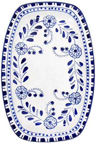 Le Souk Ceramique AZ29 Stoneware Rectangular Platter, Azoura