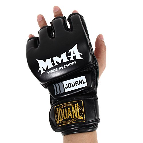 Costume National Riding Boots (Pansupply 1 Pair Black Half mitts mitten Boxing gloves Muay Thai kick boxing MMA train gym gloves)