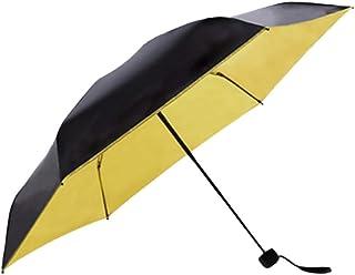 Kongqiabona Mini Sun Parapluie Cinq-Plis Super-léger Sun-Protection Pocket Parapluie
