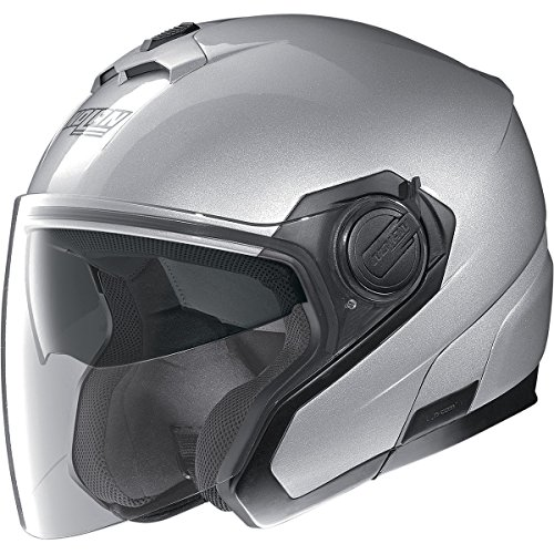 Nolan N40 Classic MCS Solid Helmet, Distinct Name: Metallic Platinum Silver, Gender: Mens/Unisex, Primary Color: Silver, Helmet Type: Open-face Helmets, Helmet Category: Street, Size: XL N345272260266