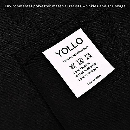 Yollo 3-Pack Restaurant Waist Aprons With 3 Pockets Kitchen Cooking Restaurant Bistro Craft Garden Half Aprons for Men, Women, Chef, Baker, Servers, Waitress, Waiter, Craftsmen, Black by YOLLO (Image #6)