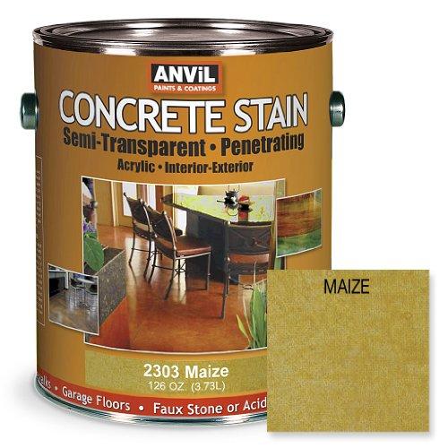 UPC 760428230310, Anvil Semi-Transparent Concrete Stain Penetrating Acrylic Interior-Exterior Color Maize - 1 Gallon