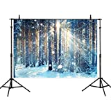 Allenjoy 7x5ft Winter Scenic Photography Backdrop Background Sunlight Forest Photo Studio Booth Booth Prop Newborn Baby Shower Kids