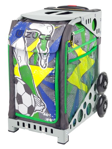 Zuca World Cup inspired Striker roller bag- choose your frame color! (grey frame) by ZUCA