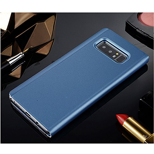 Leather Case with Stand for Huawei P9 Plus,Bookstyle Flip Case Cover for Huawei P9 Plus,Leecase Mirror Effect Transparent View Standing Function for Huawei P9 Plus-Blue by Leecase (Image #2)