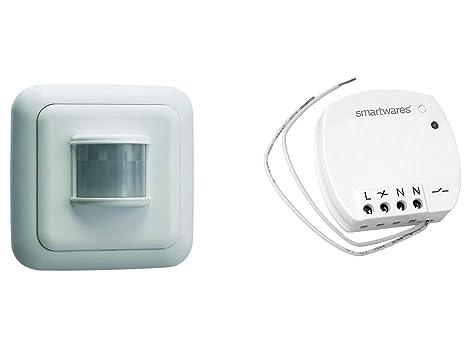 Radio interruptor SET=Mini de interruptor (+ detector de movimiento, para Leuchten y