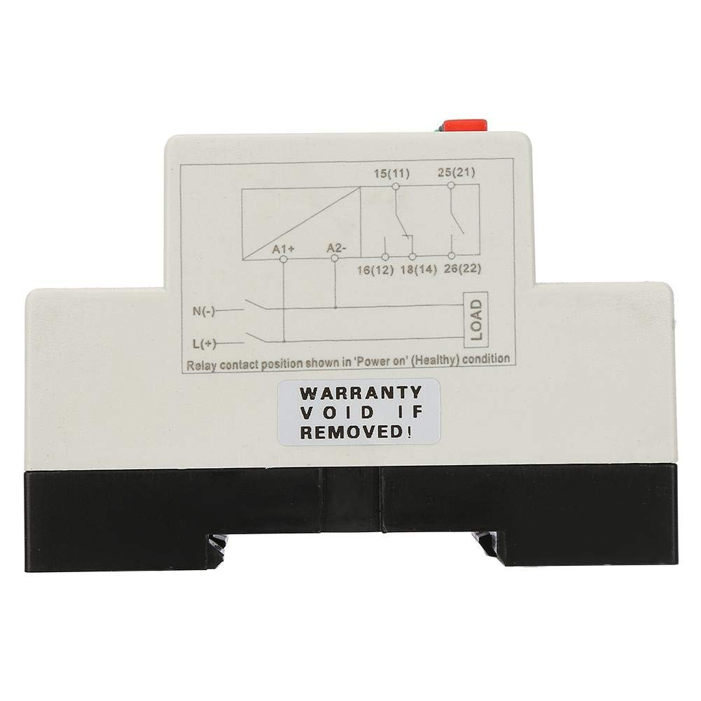 D12 Acogedor Voltage Monitoring Relay, SVR1000 Single Phase Over-Voltage Under-Voltage Protection Relay, 35MM Guide Rail