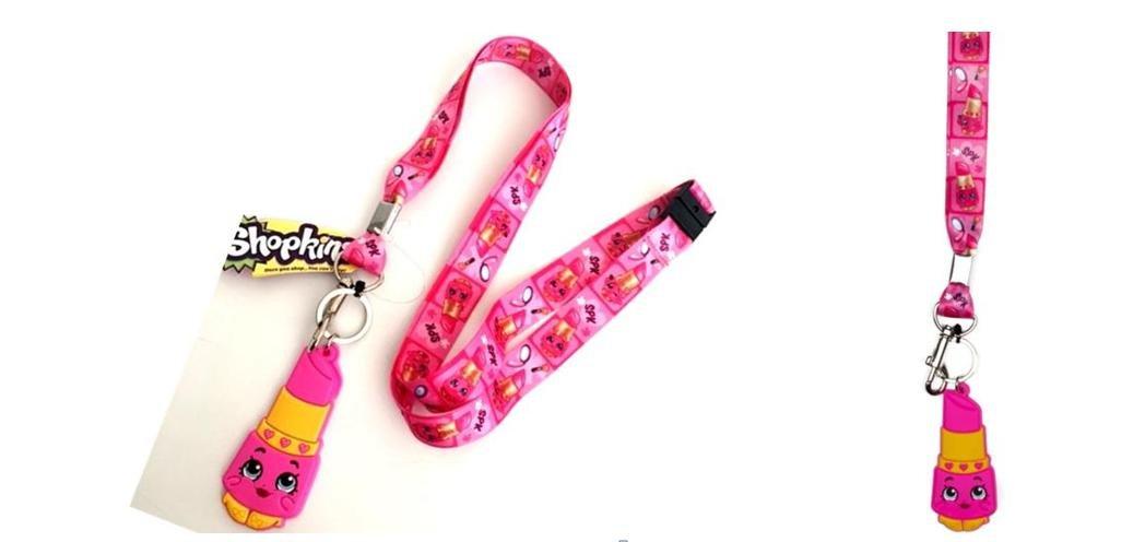 Shopkins Lippy Lips Lanyard keychain Holder with Charm