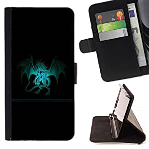 DEVIL CASE - FOR Samsung Galaxy A3 - Dragon Crest - Style PU Leather Case Wallet Flip Stand Flap Closure Cover