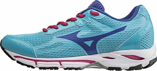 Mizuno Scarpa Running Sneaker Donna Wave Resolute 2 Celeste Viola Bianco 39