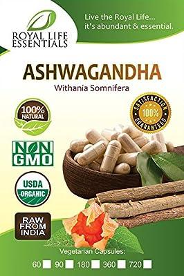 Ashwagandha Organic Powder Capsules