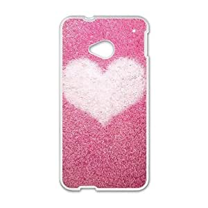 HTC One M7 Cases Cell phone Case Xjuky Pink love Plastic Durable Cover