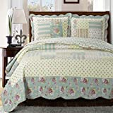 King Size Comforter Sets 110 X 96 Annabel King/Calking Size, Over-Sized Quilt 3pc set 110