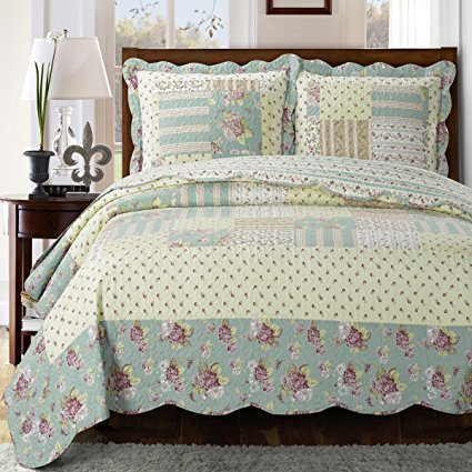Annabel King/Calking Size, Over-Sized Quilt 3pc set 110