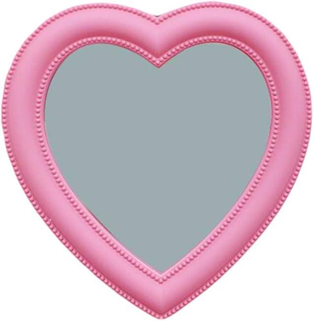 Amazon Com Pink Love Makeup Mirror Girl Wall Hanging Makeup Mirror Room Wall Decoration Desktop Heart Shaped Mirror 2827cm Home Kitchen