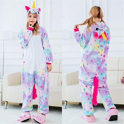 Pigiama Notte Fox Indumenti Flanella Stella Costume Per Unisex Da Unicorno Adulto Rainbow Animale tpTwxq44