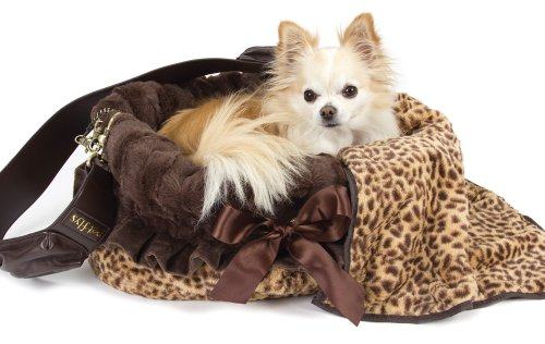 Snuggle Bug Dog Carrier and Bed by Pet Flys – Cheetah and Brown, My Pet Supplies