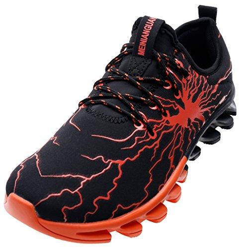 Joomra Mode Pour Hommes Les Chaussures De Course 39-45 Avec 20 Couleurs Orange, 1yz5
