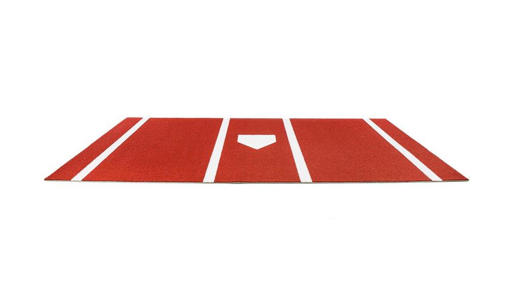pro-ball合成Turf Baseball / Softball Hitting Matホームプレート、ライン、Clay – 7フィートX 12フィート   B076P1KB33