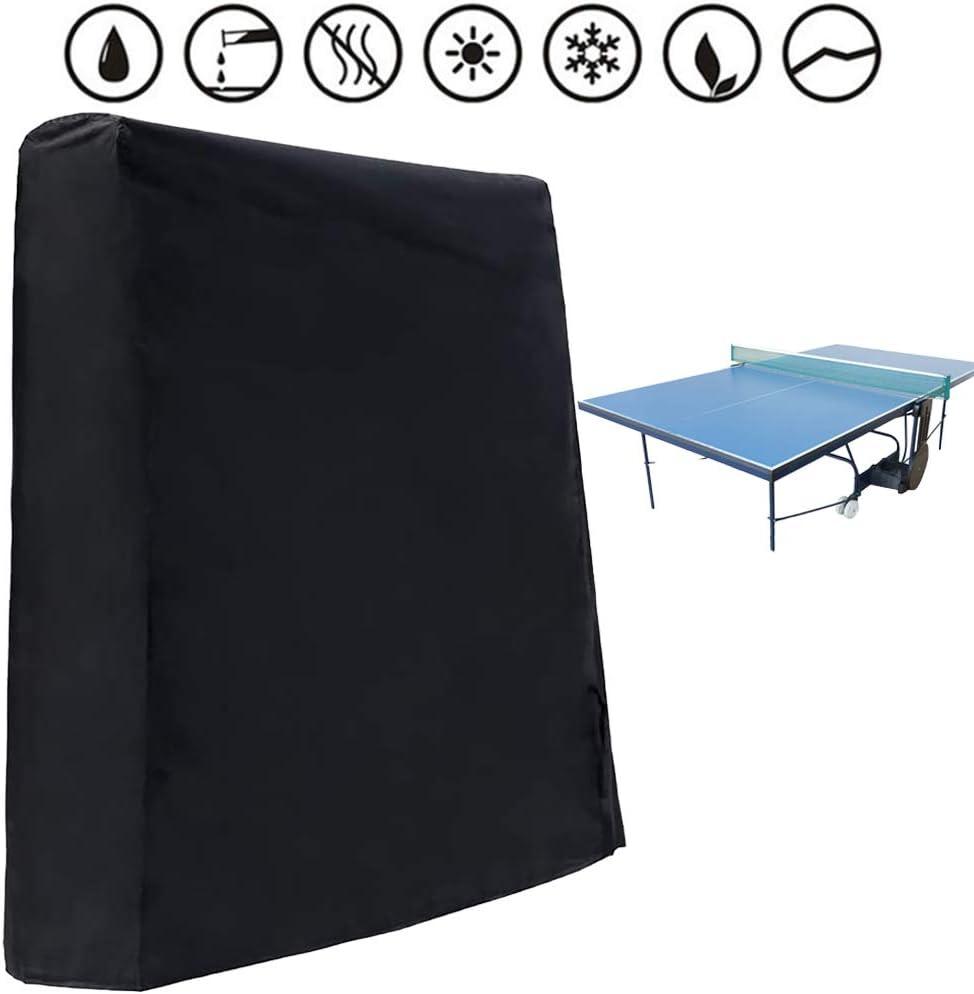 ZOORE - Cubierta para mesa de ping pong (resistente al agua y a los rayos UV, con cremallera, 245 x 160 x 100 cm)