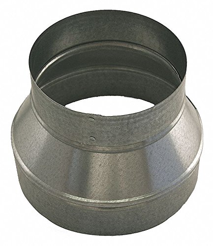 Galvanized Steel Reducer, 7'' x 5'' Duct Fitting Diameter, 6'' Duct Fitting Length