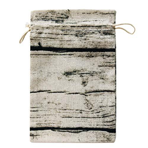 1KTon Abstract Striped Cotton And Linen Portable Reusable Bag Organizer Shopping Tote Handbag Fruit Storage Shopper ()