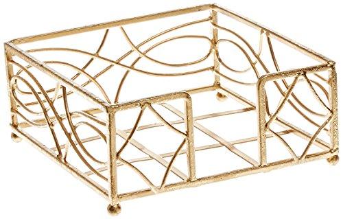Boston International Cocktail Napkin Caddy, Wave Design in Gold ()
