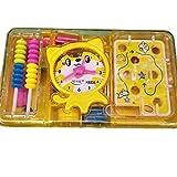 Wanrane Baby Development Toys Labyrinth Tool Box Cat Counter Children's Educational School Supplies(Yellow)