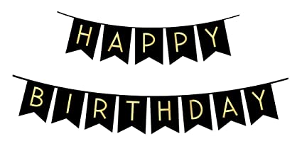 amazon com sterling james co black happy birthday bunting banner