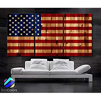 Amazon Com Antique Cloth American Flag Framed Wall Art