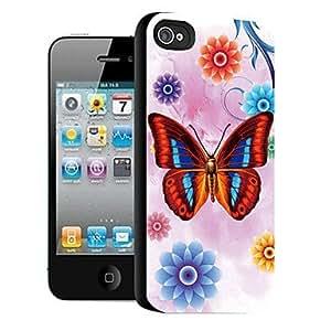 ZXM-Mariposa patrón caso el efecto 3D para iPhone5