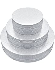 [25pcs] Cake Board Rounds,Cake Base Pack of 25 Disposable Cake Pizza Circles Perfect for Cake Decorating