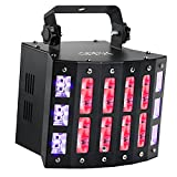 DJ Lights, OPPSK 48W 3in1 Multifunction 9 Colors LED Beam Disco Lights 6LEDs Black Lights and Strobe Lights for Birthday Wedding Club DJ Lighting Party