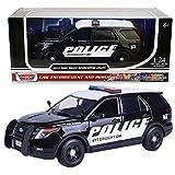 2015 Ford Interceptor Police Car Black/White 1/24