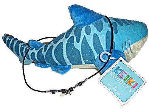 Islander Group Hawaiian Hawaii Tiger Sharks Tooth Necklace and Stuffed Animal Shark Gift Set ()