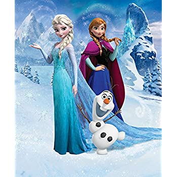 Awesome Walltastic 8 X 6 Ft 6 Inch Paper Disney Frozen Wall Mural, Multi  Part 4