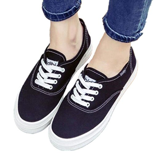 Negro Zapatos Ocio Blanco Blanco Grueso Fondo Blanco 35 Cómodo Zapatos BLACK Estudiantes de 35 Señora Lona Pequeño Zapatos XIE White Movimiento Diario q7xagwx