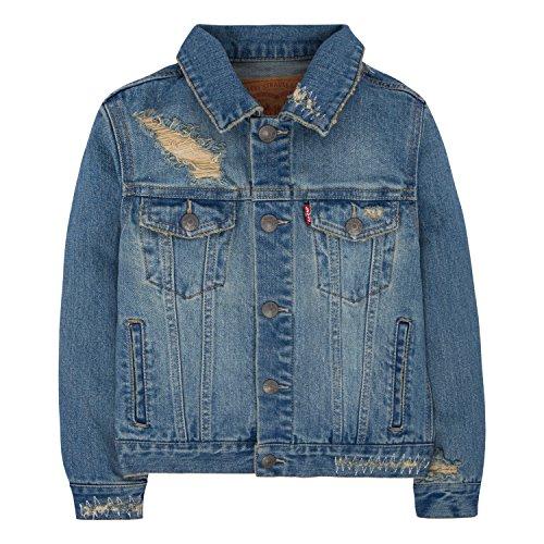 Levi's Boys' Little Denim Trucker Jacket, Vintage Fade, 7