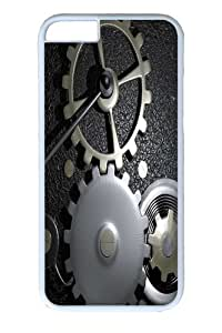 iPhone 6 plus Case, Gears In A Machine PC Hard Plastic Case for iphone 6 plus 5.5 inch Whtie