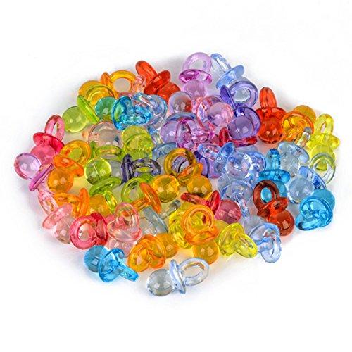 Mini Pacifier - Mini Shower Pacifiers Favors Clear Acrylic Table Scatter Decorations Multicolor 100Pcs