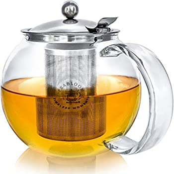 Teabloom Stovetop Safe Lead-Free Glass Teapot Kettle