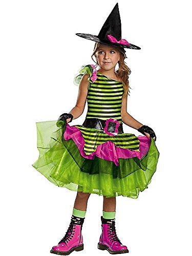 Disguise Tutu'riffic Whimsy Witch Girls Costume, Small (Witch Costume Party City)