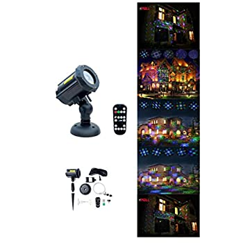 Image of Motion Pattern Firefly 3 Models in 1 Continuous 18 Patterns LEDMALL RGB Outdoor Laser Garden and Christmas Lights with RF Remote Control and Security kit