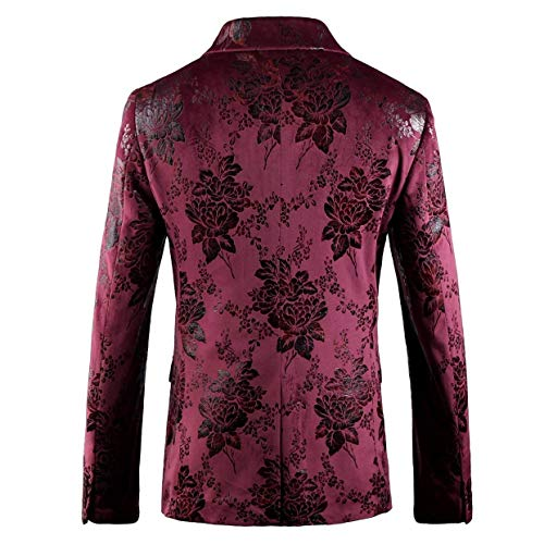 Prom Rot Da Wedding Fit Fashion Classic Suit Giacca Party Blazer Giovane Print Slim Saoye Tuxedo Giacche Uomo 6xfaEnRC